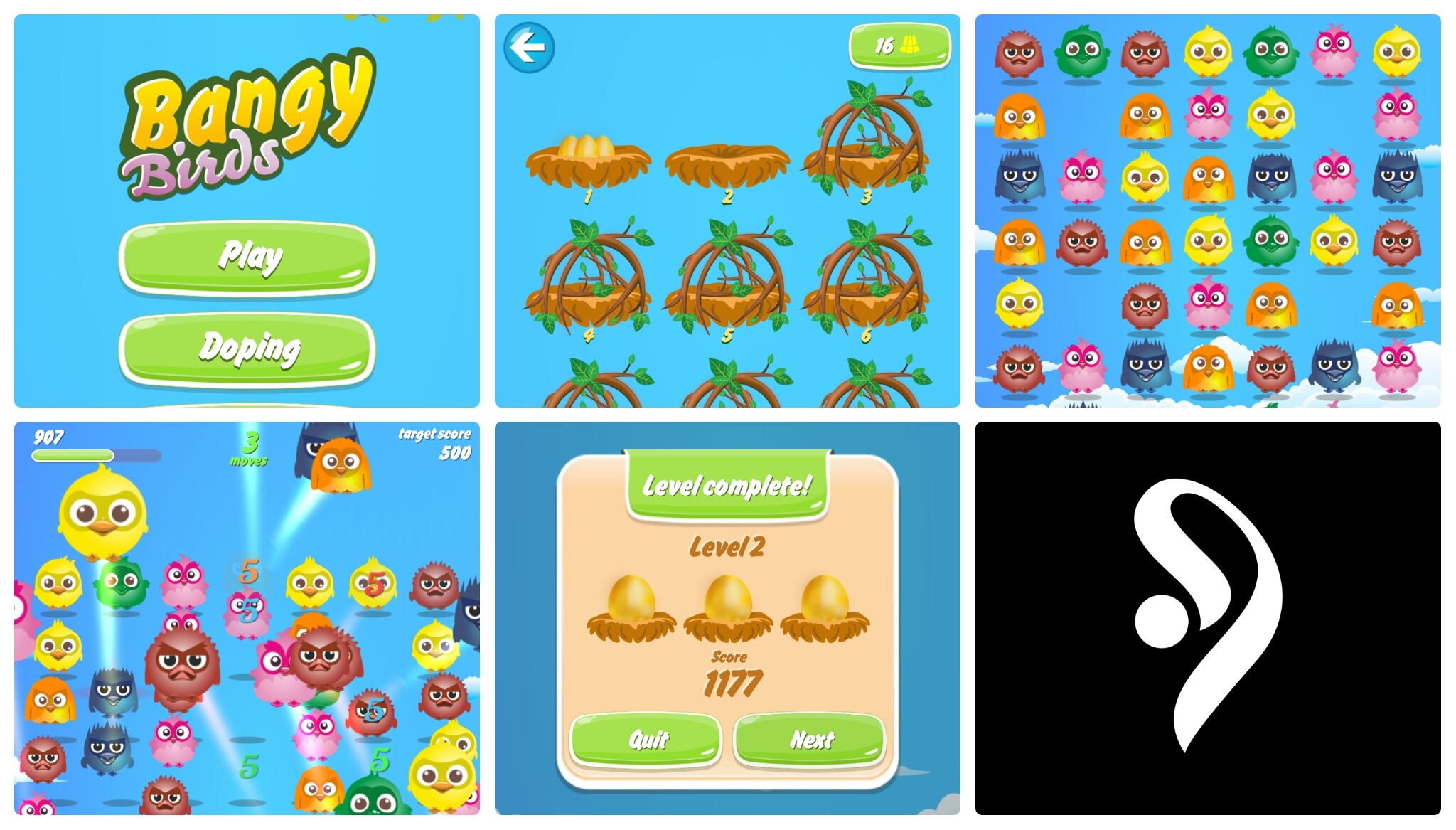 Bangy Birds - Match 3 - Mobile Game - Android